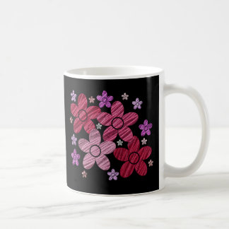 Digital Art Floral Explosion on Black Mug