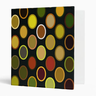 Digital Art Gliftex Abstract Awesome Retro Ovals Binder