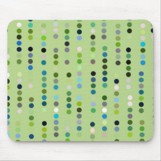Digital Art Gliftex Abstract Dots on Green Mouse Pad