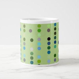 Digital Art Gliftex Abstract Dots on Green 20 Oz Large Ceramic Coffee Mug
