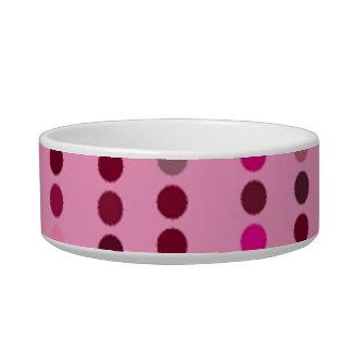Digital Art Gliftex Abstract Dots on Pink Pet Bowl