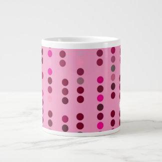 Digital Art Gliftex Abstract Dots on Pink 20 Oz Large Ceramic Coffee Mug