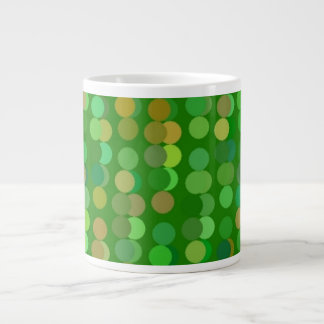 Digital Art Gliftex Abstract Green Dots 20 Oz Large Ceramic Coffee Mug