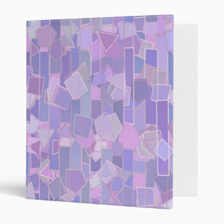 Digital Art Gliftex Abstract  Lavender Shapes Binder