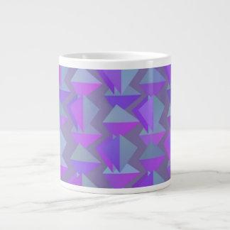 Digital Art Gliftex Abstract Purple Shapes 20 Oz Large Ceramic Coffee Mug