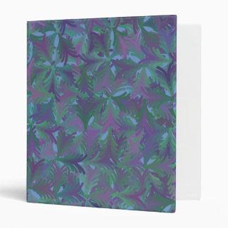 Digital Art Gliftex Abstract Shades of Blue Binder