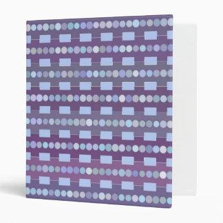Digital Art Gliftex Abstract Stripes and Dots 3 Ring Binder