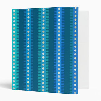 Digital Art Gliftex Abstract Turquoise Stripes Binder