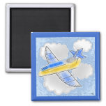 Digital Art Jet Airplane Magnets