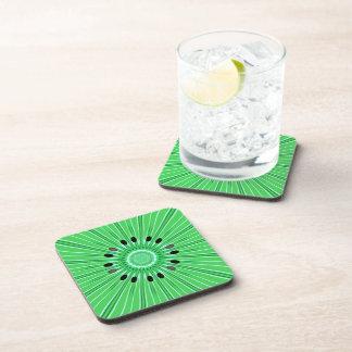 Digital art kiwi beverage coaster