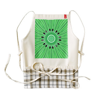 Digital art kiwi zazzle HEART apron