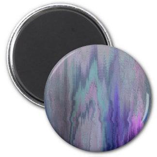 Digital Art Metallic Impasto 2 Inch Round Magnet