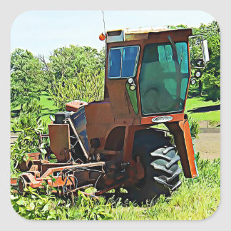 Digital Art Midwest Farming Tractor Stickers