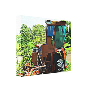 Digital Art Midwest Tractor Canvas Artwork