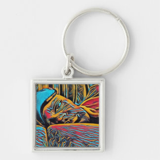 Digital Art Photography: Insomniac Keychain