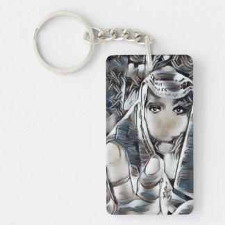 Digital Art Photography: Speak No Evil Keychain
