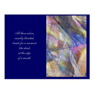 Digital Art Poetry Trading Postcard