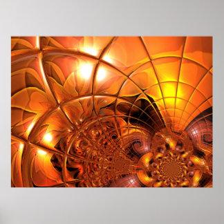 Digital Art Poster Honeycomb Glass