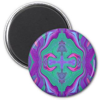 Digital art print in purple & aqua magnet