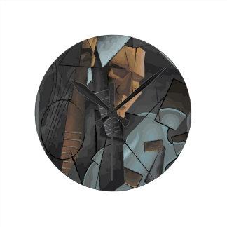 Digital Art - Syncopation Round Clock