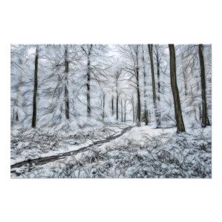 Digital Art - Winter Wonderland Photo Print
