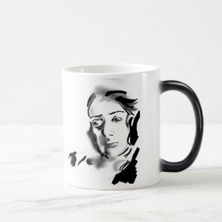 Digital Artistic Ink Woman Black & White Magic Mug