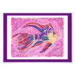 digital artwork Pink fish Photographic Print