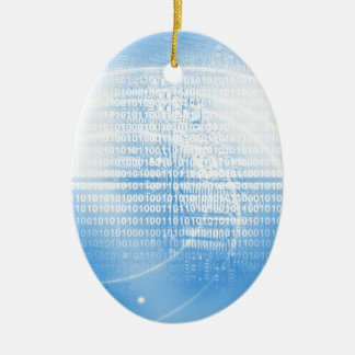 Digital background ceramic ornament