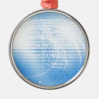 Digital background metal ornament
