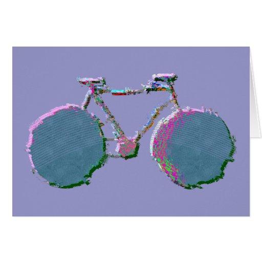 digital bike art card