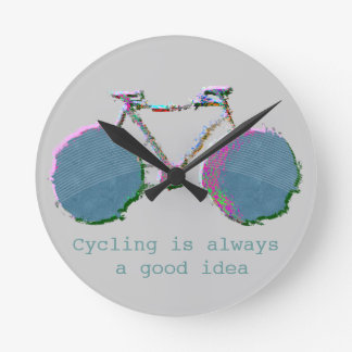 digital bike art round clock