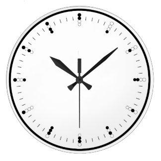 Digital (Binary) Analog Wall Clock