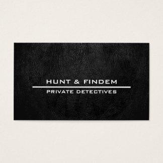 Digital Black Leather Business Card