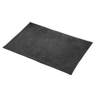 Digital Black Leather Cloth Place Mat
