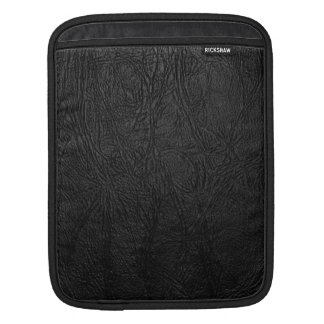 Digital Black Leather iPad Sleeve