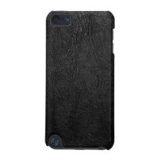 Digital Black Leather Ipod Touch (5th Generation) Cover at Zazzle
