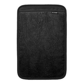 Digital Black Leather MacBook Sleeve