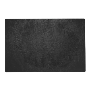 Digital Black Leather Placemat at Zazzle