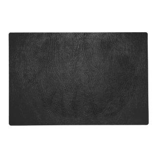 Digital Black Leather Placemat