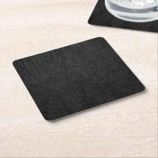Digital Black Leather Square Paper Coaster