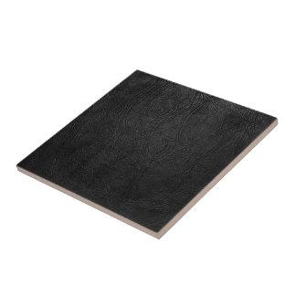 Digital Black Leather Tile