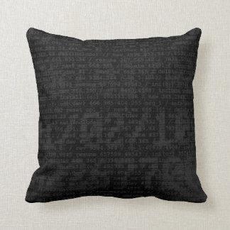 Digital Black Pillows