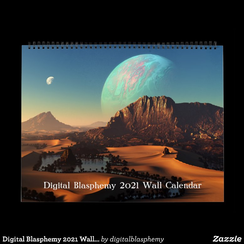 Digital Blasphemy 2021 Wall Calendar
