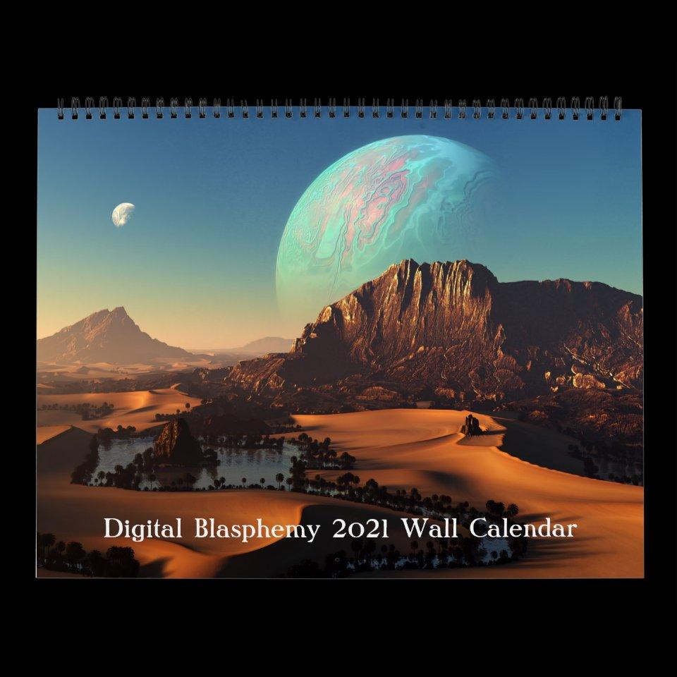Digital Blasphemy 2021 Wall Calendar