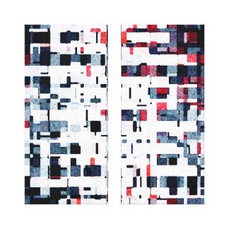 Digital Blocks Gallery Wrapped Canvas