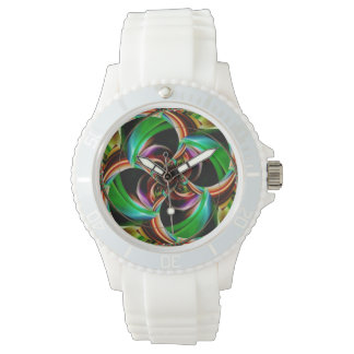 Digital Blossom multicolored Wristwatch