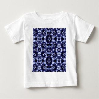 Digital Blossom print darkblue white Baby T-Shirt