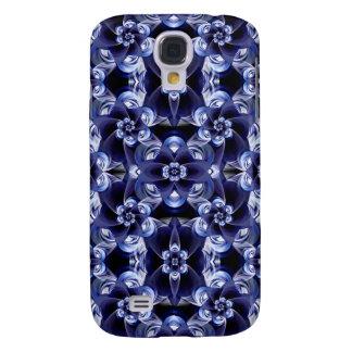 Digital Blossom print darkblue white Galaxy S4 Case