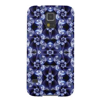 Digital Blossom print darkblue white Galaxy S5 Cover