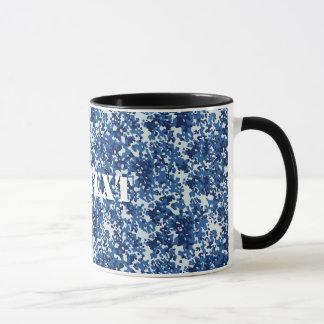 Digital Blue Military Pattern Mug